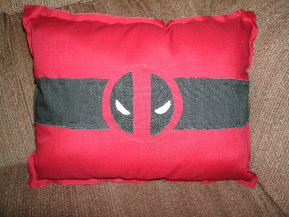 Deadpool Logo Pillow by SeeOrSeem