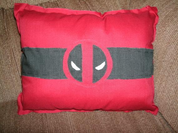 Deadpool Logo Pillow by SeeOrSeem