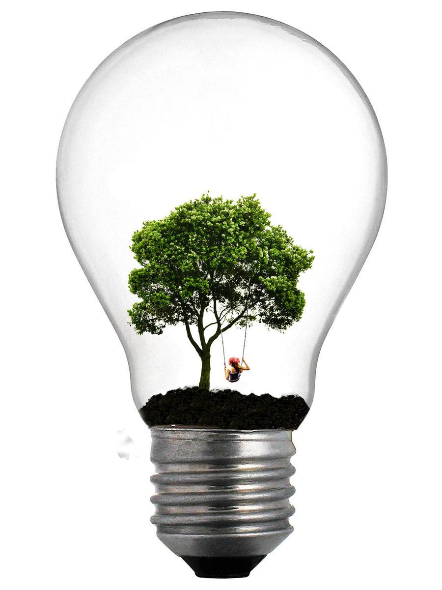 Tree lightbulb by Pawnile