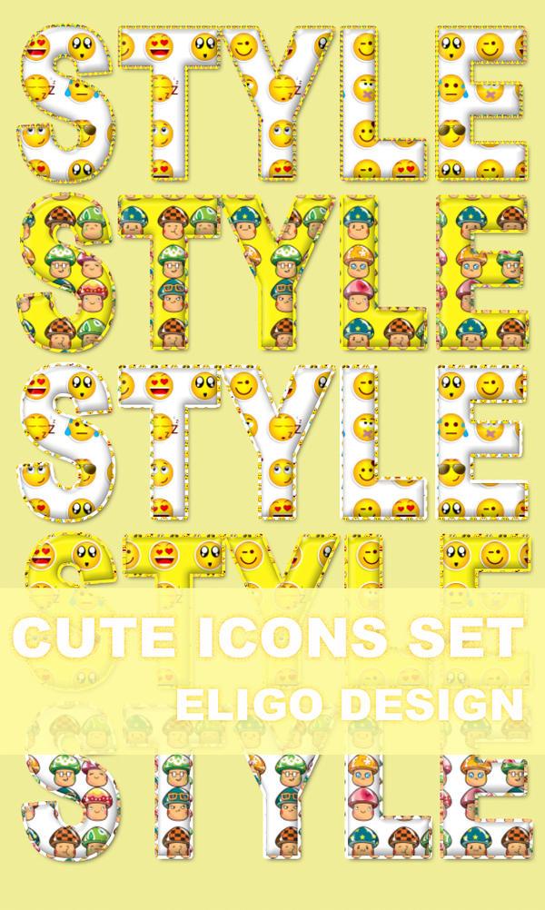 Premium Cute Icons Set By Eligodesign by EligoDesign