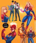 Captain Marvel sketch 019
