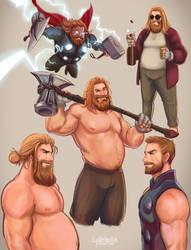 Thor Sketch (Avengers : EndGame) /11 by CuddlyVeedles