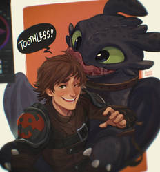 Hiccup w/ Toothless (HTTYD)