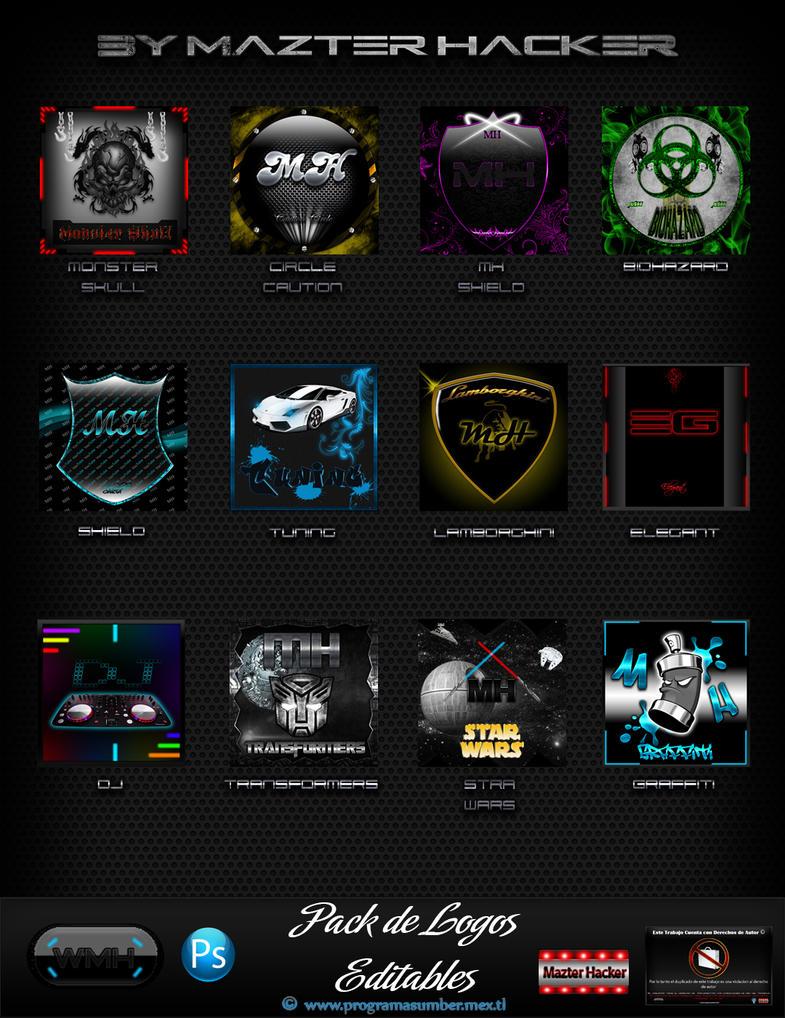 Logos Editables para Photoshop by WebMazterHacker