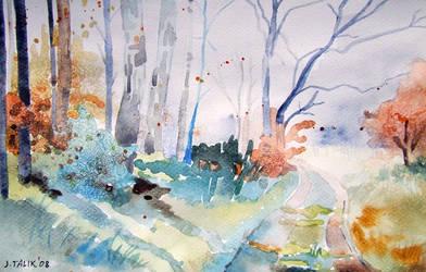 Jesienny widok by Akwarela