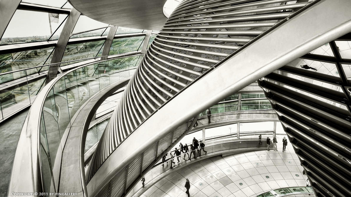 Berlin - Reichstag Dome I by pingallery