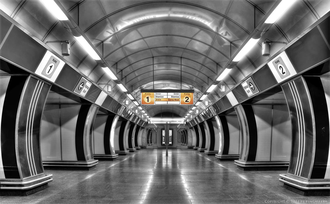 Prague - Underground Station by pingallery