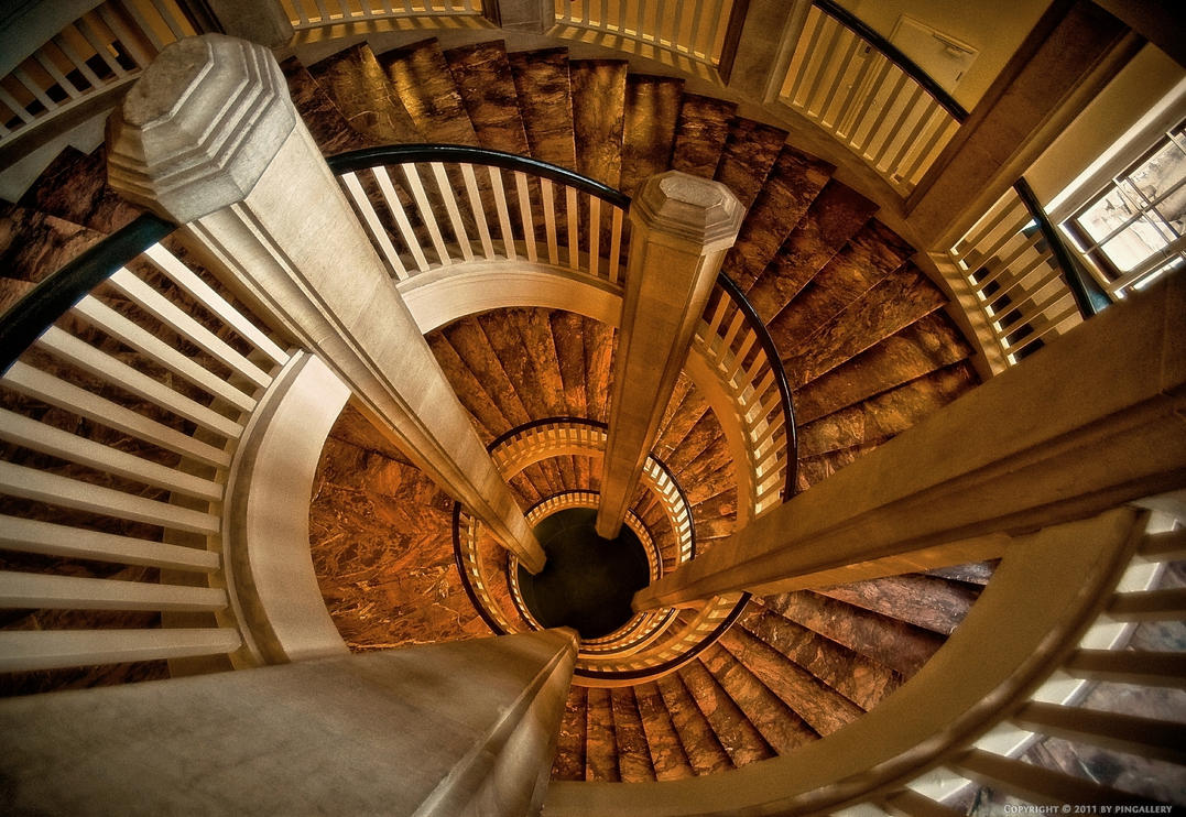 Staircase in the castle by pingallery on deviantart for Pre built stairs interior