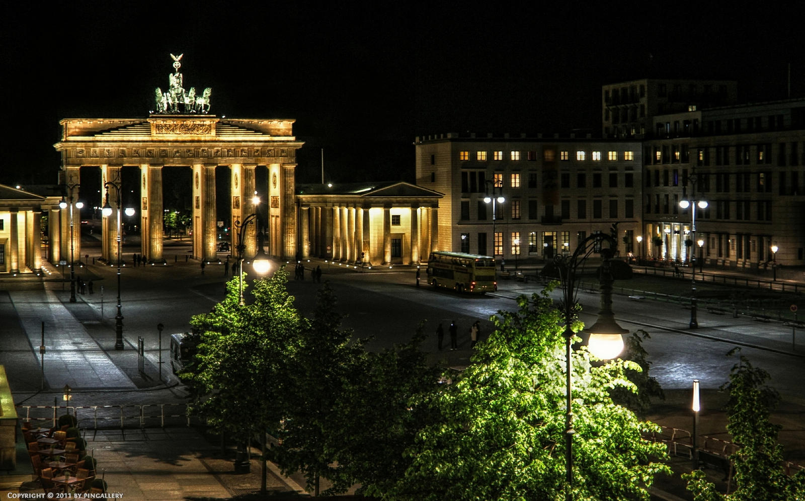 Berlin - Paris Place at Night by pingallery on DeviantArt