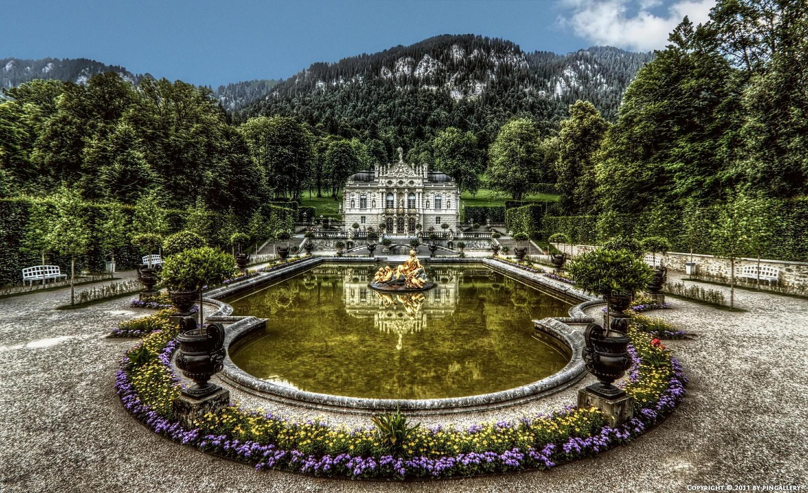 Ettal - Castle Linderhof 01 by pingallery