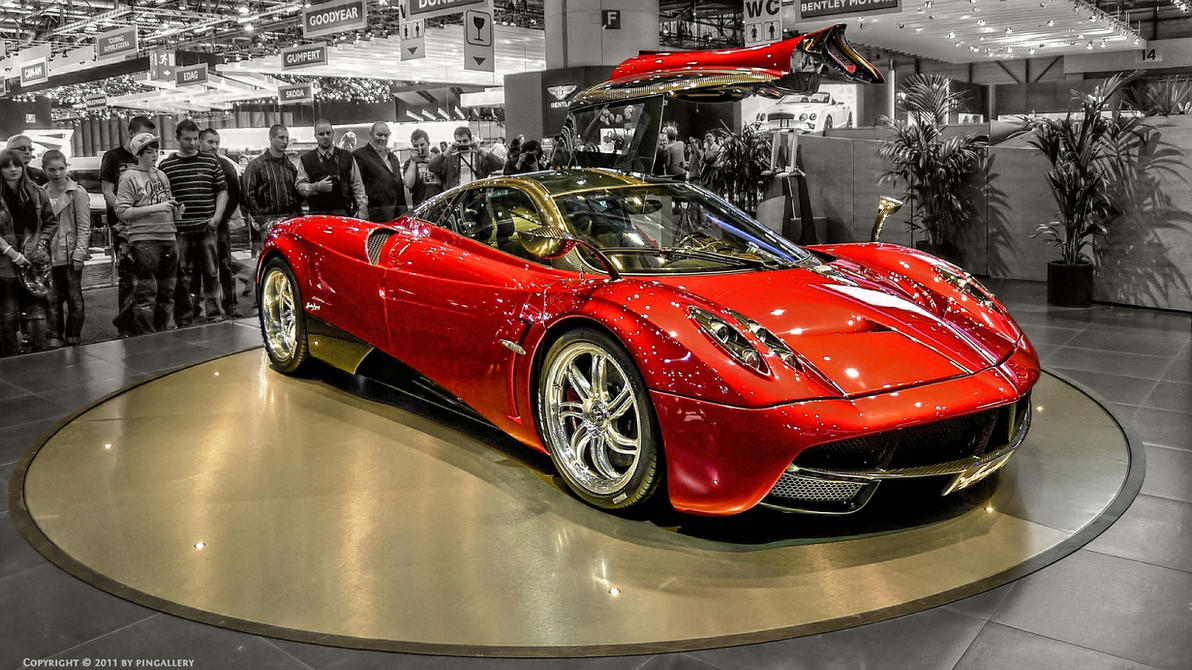 Pagani Huayra - Red by pingallery on DeviantArt