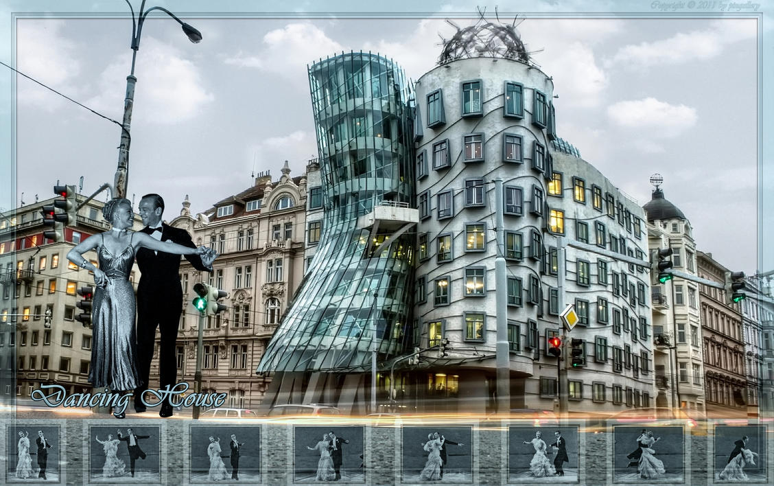 Ginger and Fred-Dancing House by pingallery
