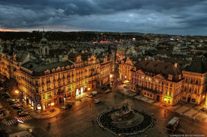 Prag-Old Town Square at Night by pingallery