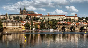Prague Castle on the Vltava by pingallery