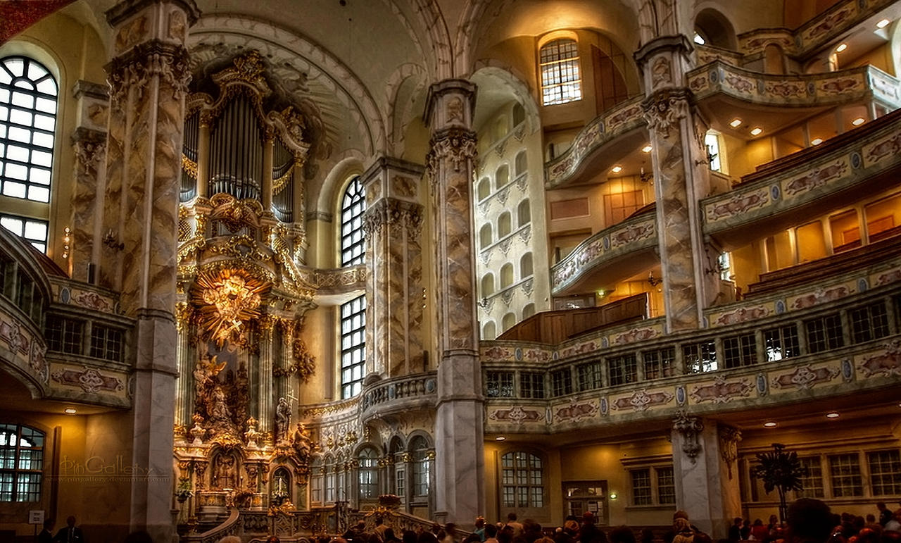 Interior View Of The Frauenkirche I By Pingallery On