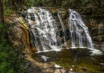 Waterfall Mumlava in the Czech Republic