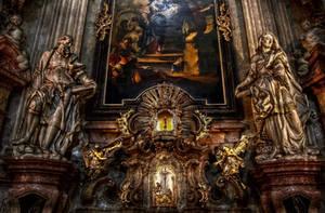 Prague - Interior of Church of St Nicholas II by pingallery