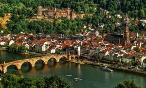 Castle Ruins and Old Bridge in Heidelberg