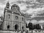 The Cathedral to Speyer in black and white