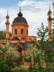 The Red Mosque at Schwetzingen Castle garden