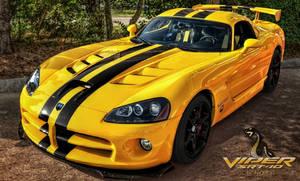 Yellow Dodge Viper SRT 10