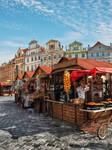 Prague - Street Scene II - Old Town Market