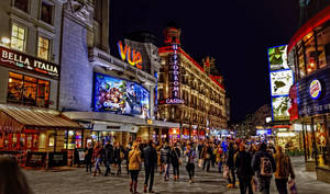 London - Leicester Square at night