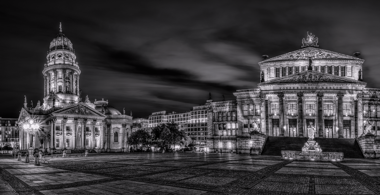 Berlin - Gendarmenmarkt at night by pingallery