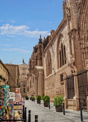 Side view of the cathedral in Toledo