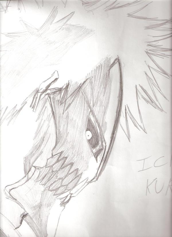 hollow ichigo by CreatureUnderTheBed