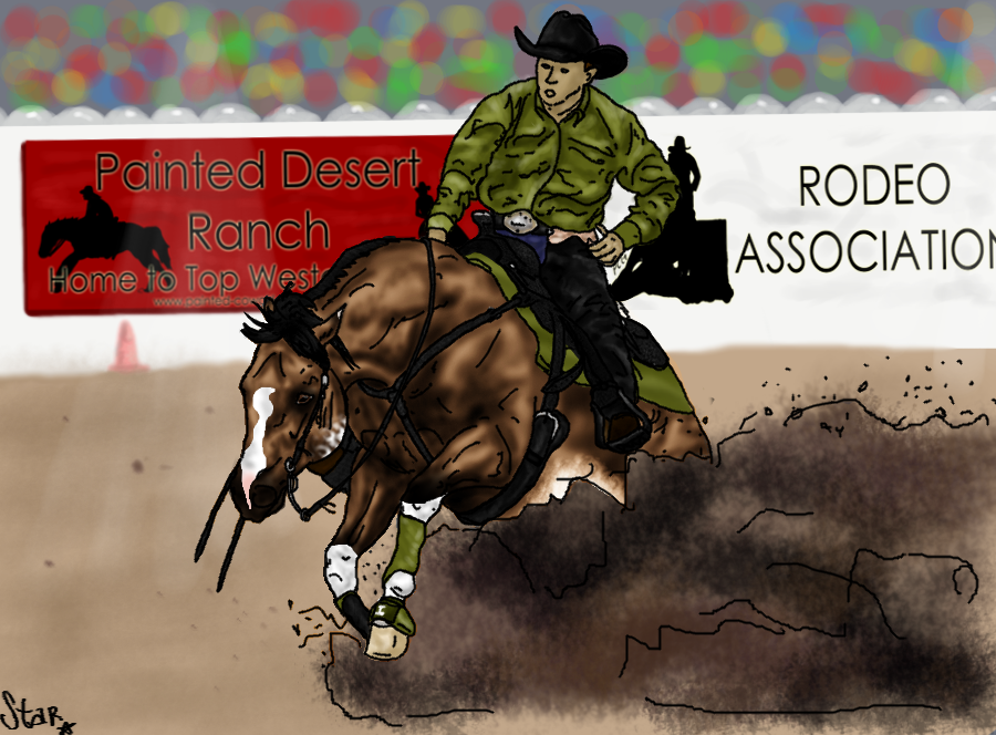 Slide and Ride - PD Reining Entry by Starcather9