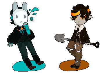 Pixel of two stupid child by Kawaii797
