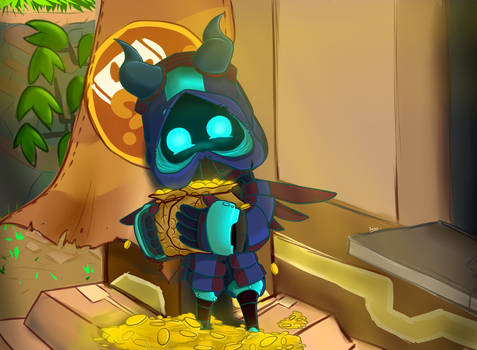 Commission: Spiral knight : Gold bags..