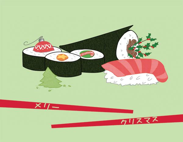 christmas sushi by pengawenga