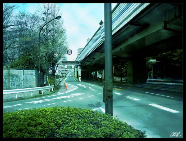 Surreal Urban Japan by AdamTSC