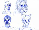 Star Trek Characters Sketch