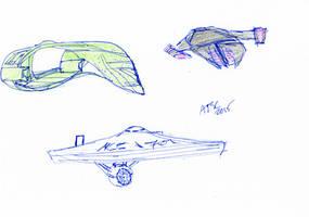 Star Trek Ships Sketch by AdamTSC
