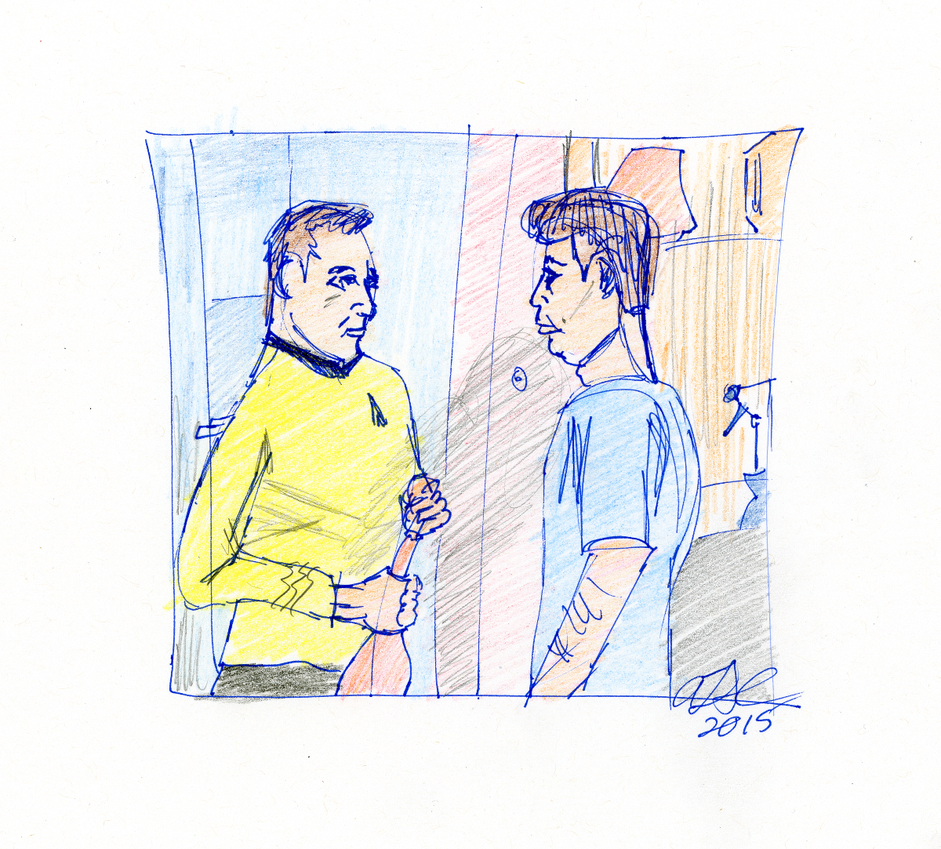 Kirk and McCoy Sketch by AdamTSC