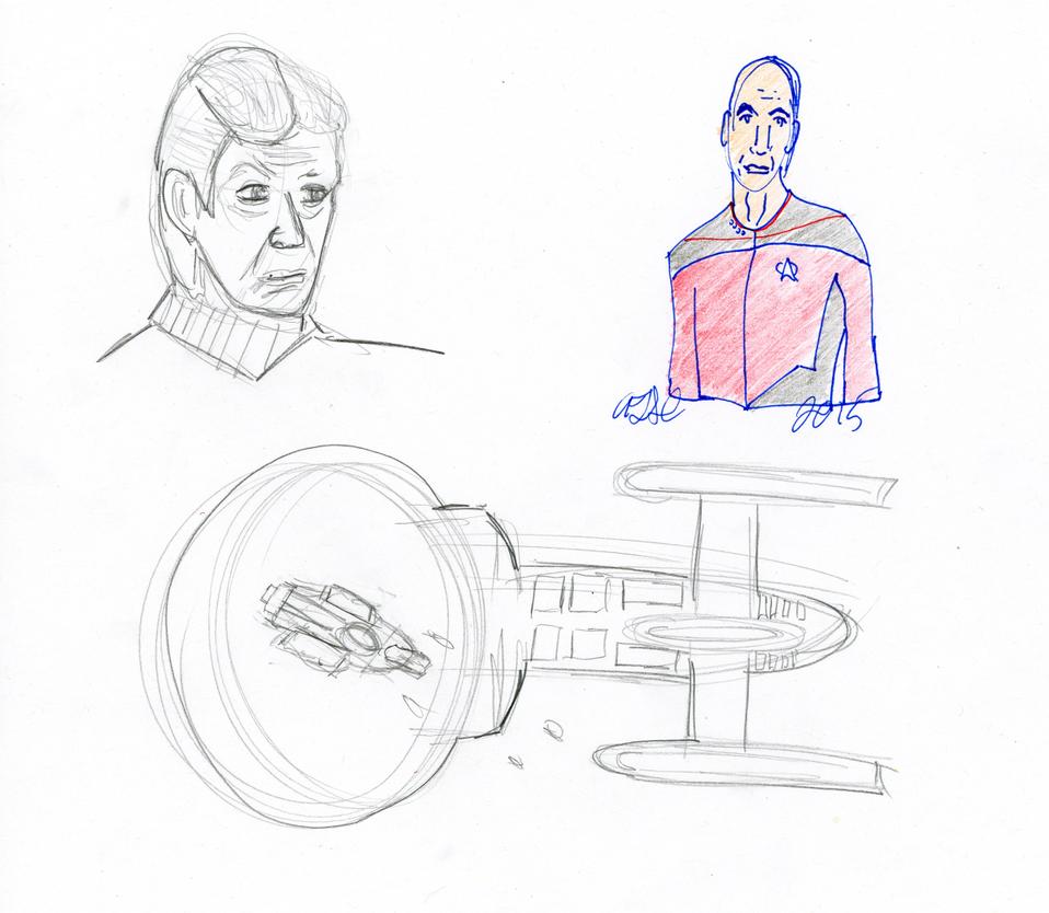 Star Trek Sketch by AdamTSC