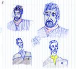 Riker and Bashir Sketches