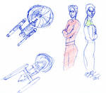 Ships and Officers Sketch