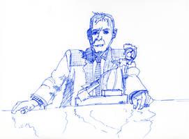 Bladerunner - Deckard at Table by AdamTSC