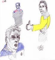 Star Trek Characters Sketch by AdamTSC