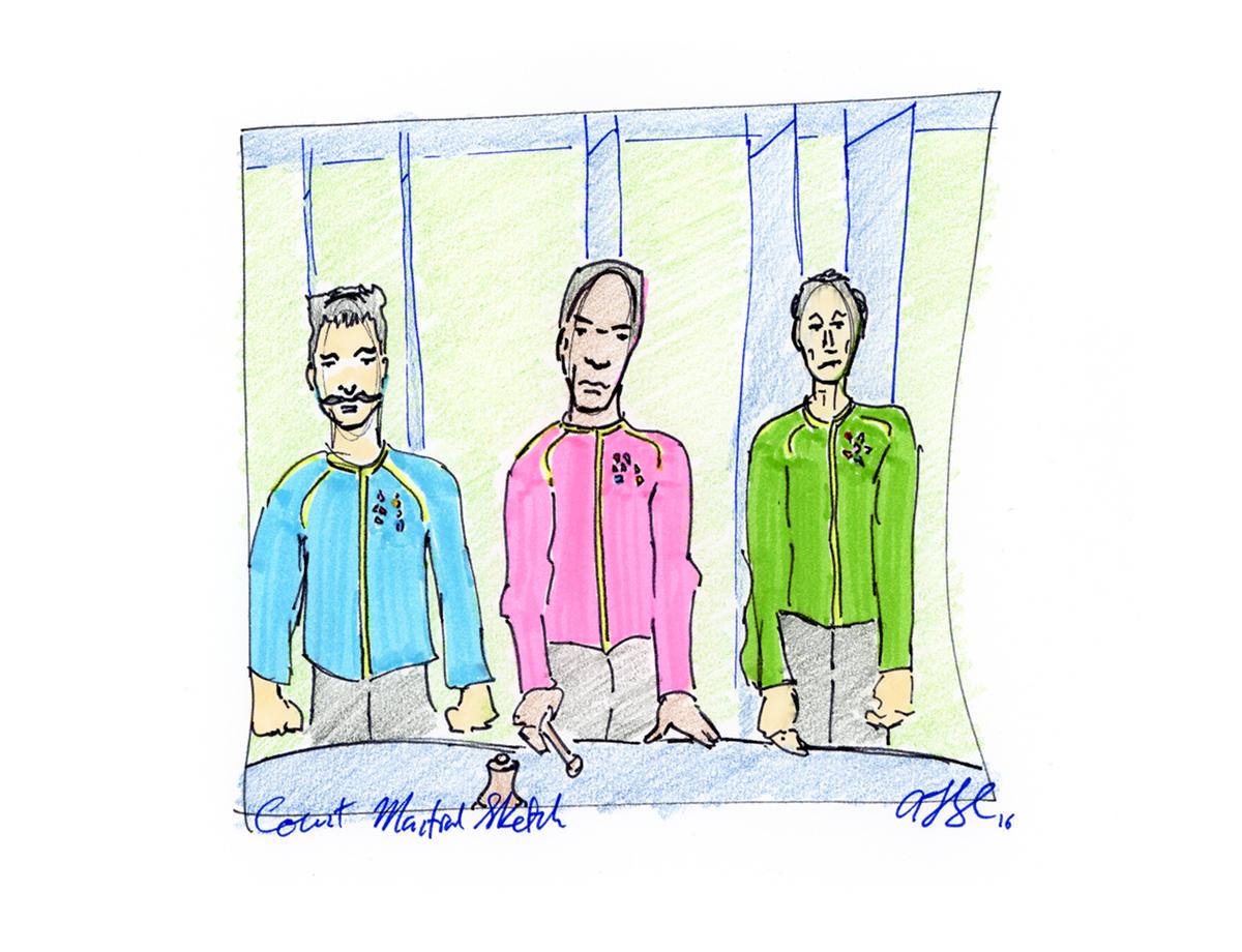 Court Martial Sketch