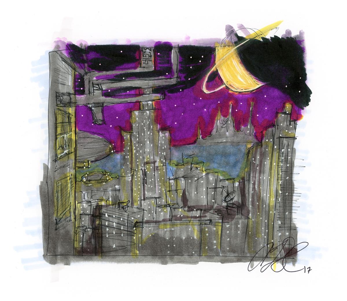 U.N. City at Night web by AdamTSC