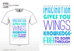 Imagination gives you wings