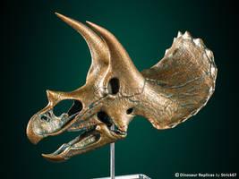 3D printed Triceratops skull - Bronze version