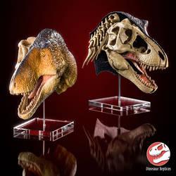 Dual Detail Rex Head - T. rex scale model by Strick67