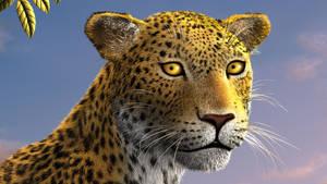 Leopard face close-up