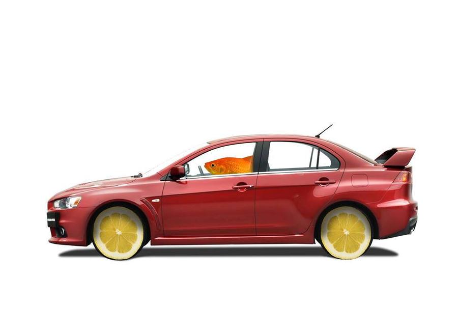 fishy in a lemon car!!! by gridlockdemon